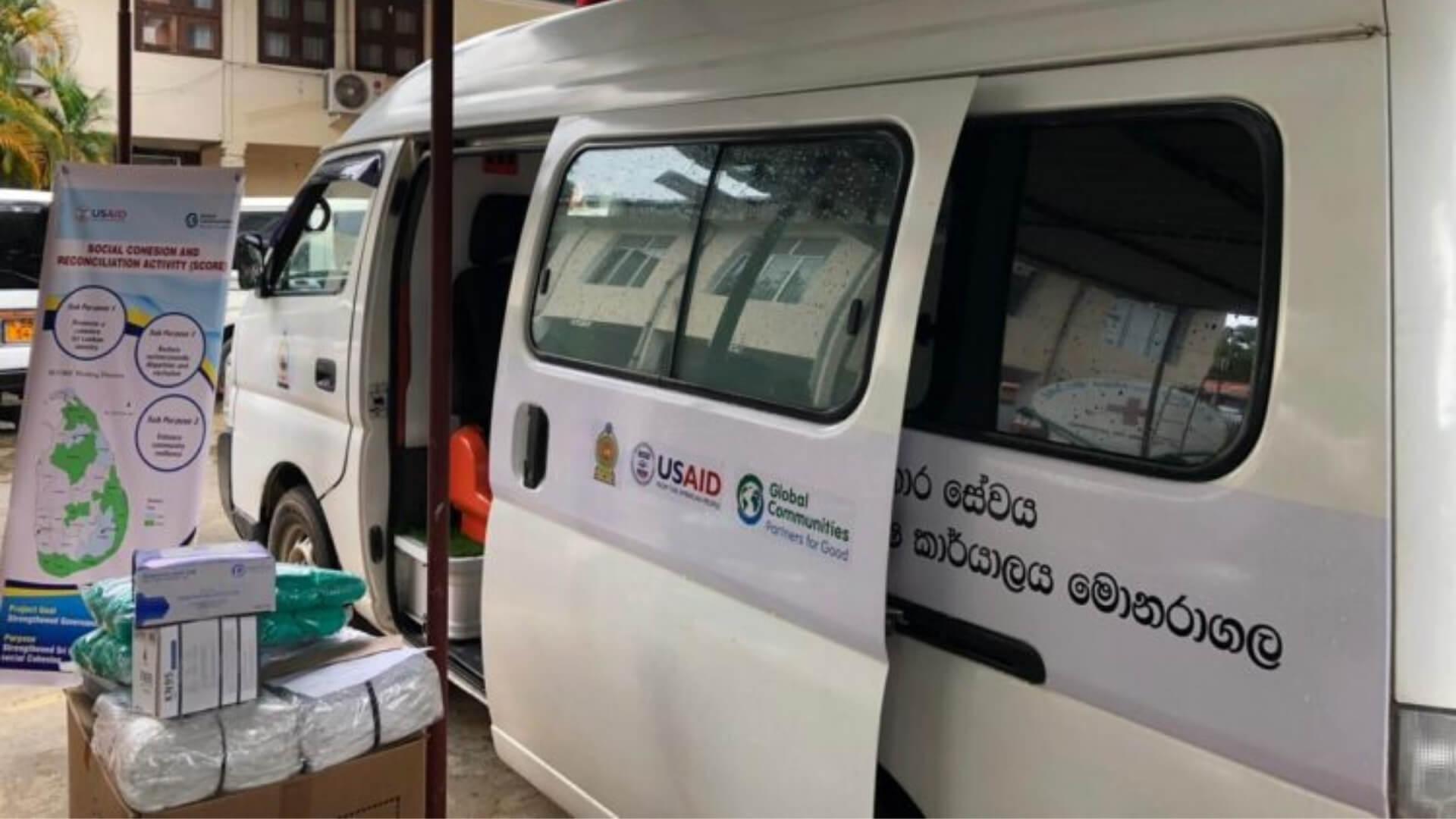 PCR mobile testing unit in Sri Lanka