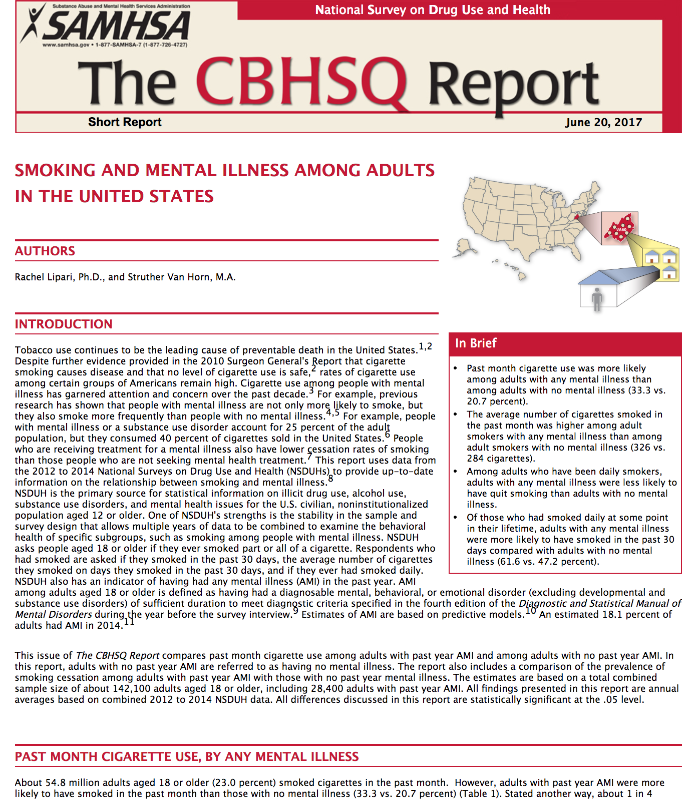 Smoking and Mental Illness Among Adults in the United States