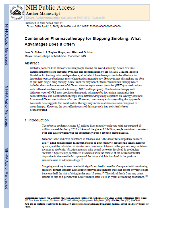 Combining Pharmacotherapy