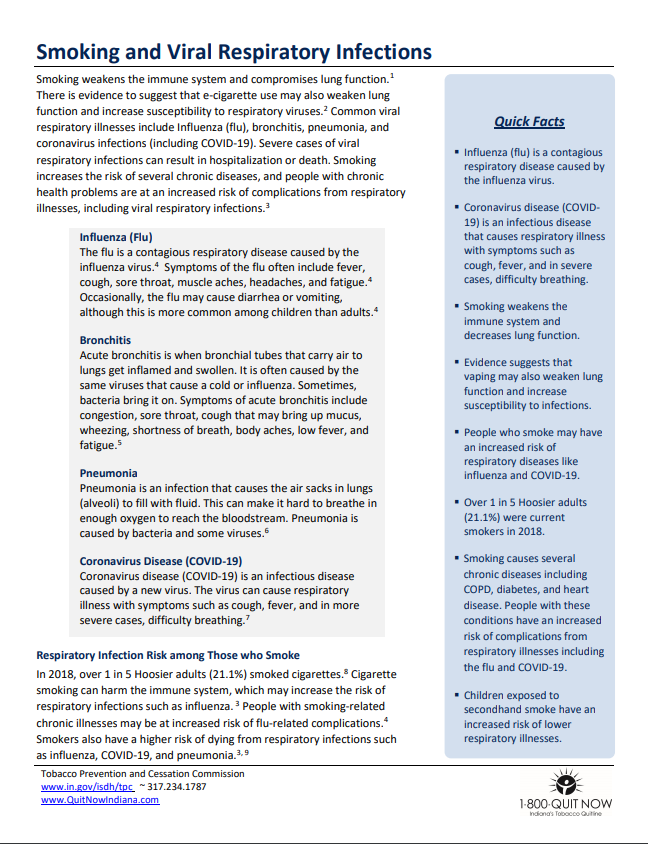 Smoking & Viral Respiratory Infections - TPC Factsheet