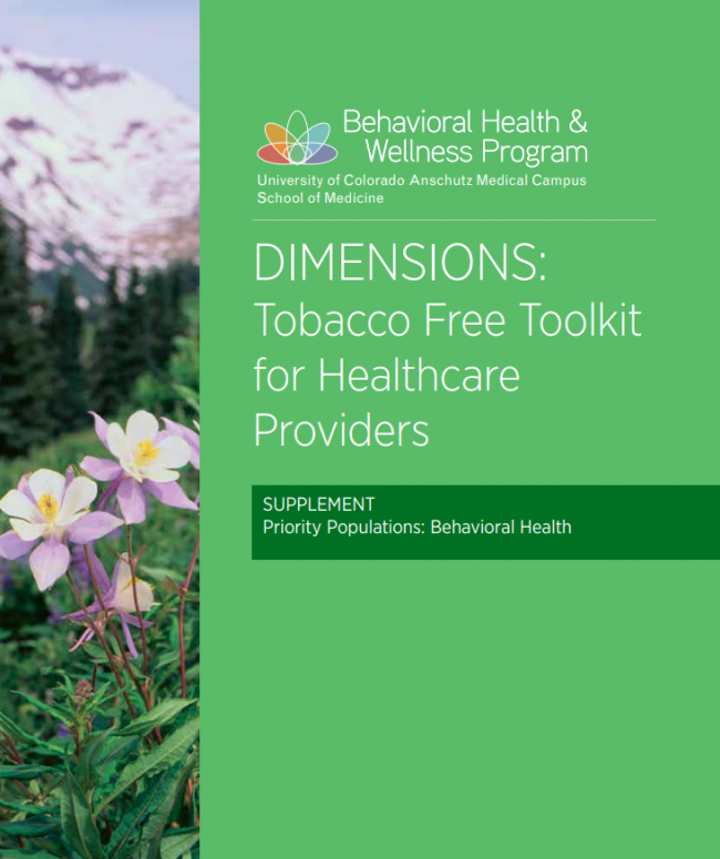 DIMENSIONS: Tobacco Free Toolkit for Healthcare Providers