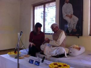 Tiwari taking pranayamic pulse