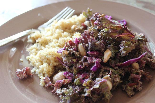 Detox Kale Cabbage & White Bean Salad