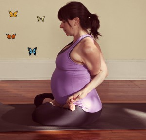 Jess pregnant lotus with butterflies