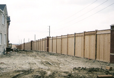 commercial wood fencing GTA