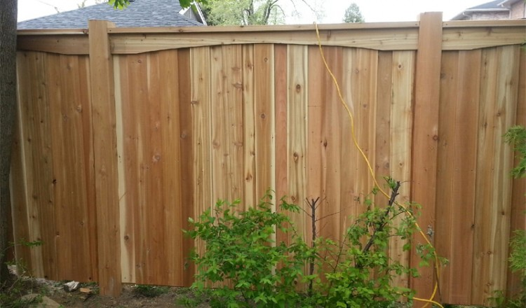 wooden fences in residential area