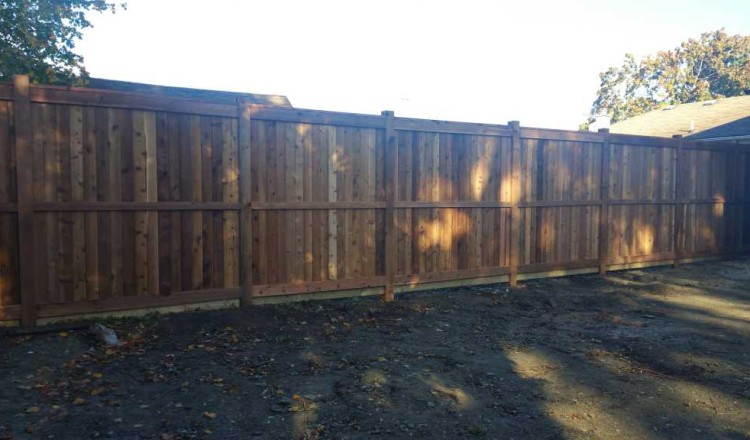 residential fence-wooden