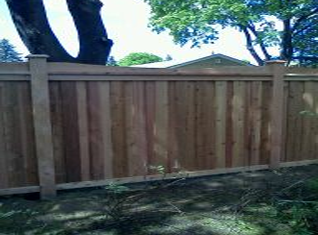 residential fences in garden
