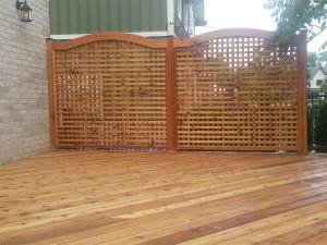 Lattice Private Fence