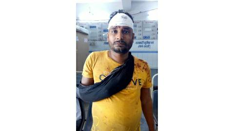 When refused to give bike, rods and cement beaten shopkeeper
