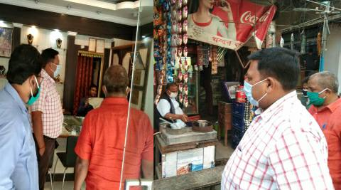 आरा- सदर एसडीओ ने किया शिवगंज स्थित दुकानों का निरीक्षण