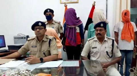 लूट और चोरी की घटनाओं में सात शातिर अपराधी गिरफ्तार