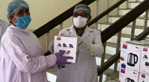 रेल मंडल अस्पताल दानापुर में लगा हॉट आरओ मशीन