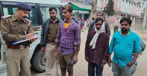 Geedha jam-police-accident-man.jpg