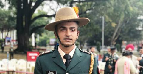 Kanishka became an officer of Indian Army