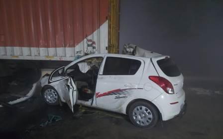 Big accident near Bagwa railway crossing on Ara-Sasaram road