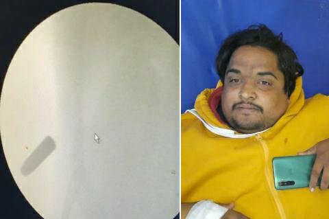 Bangauti Chauri - first stopped the bike, then spoke and shot