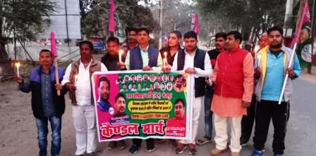 Candle march organized by Jap district unit