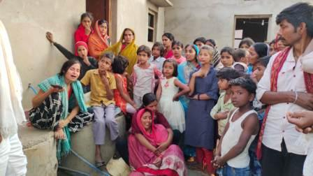 Bairahi Jagdishpur-Action on Pooja Committees and Chowkidar, condolences from sho
