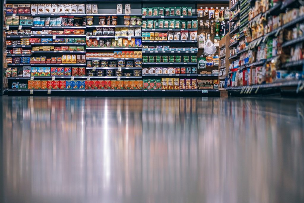 photo of cleaned and polished floor in retail store