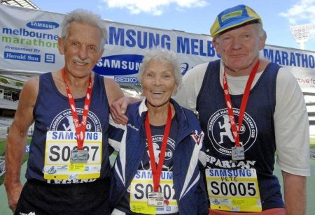 Legends Jack Gubbins, Shirley Young and Pete Battrick