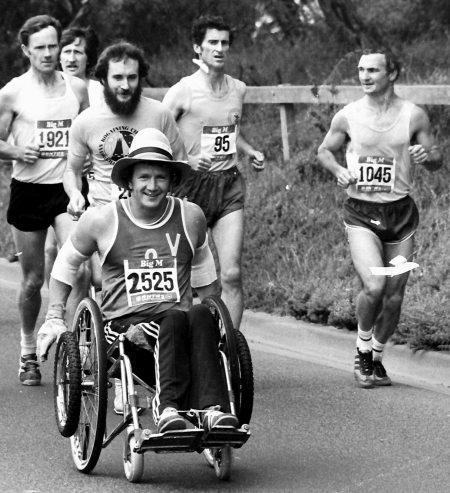 Nev Gardner on the road in 1978