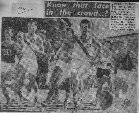 Ron Young racing Herb Elliott