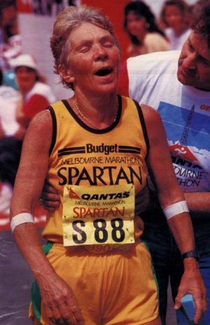 Shirley finishing in 1988