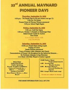 2013 pioneer days
