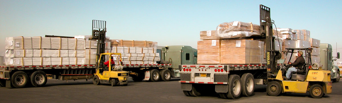 Loading two mixed truck shipments