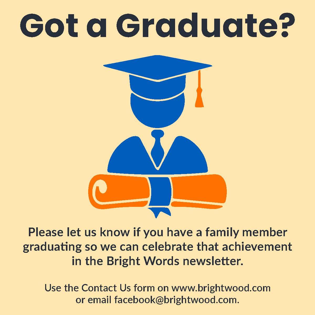 Got a graduate?