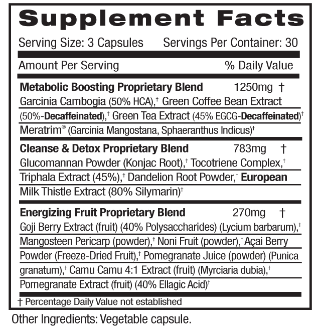 Diet-Cleanse Supp Facts