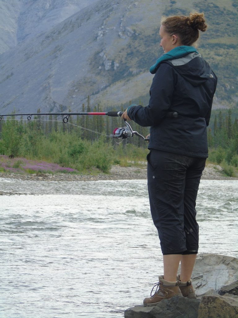 Fishing on the Ogilvie River in the Yukon