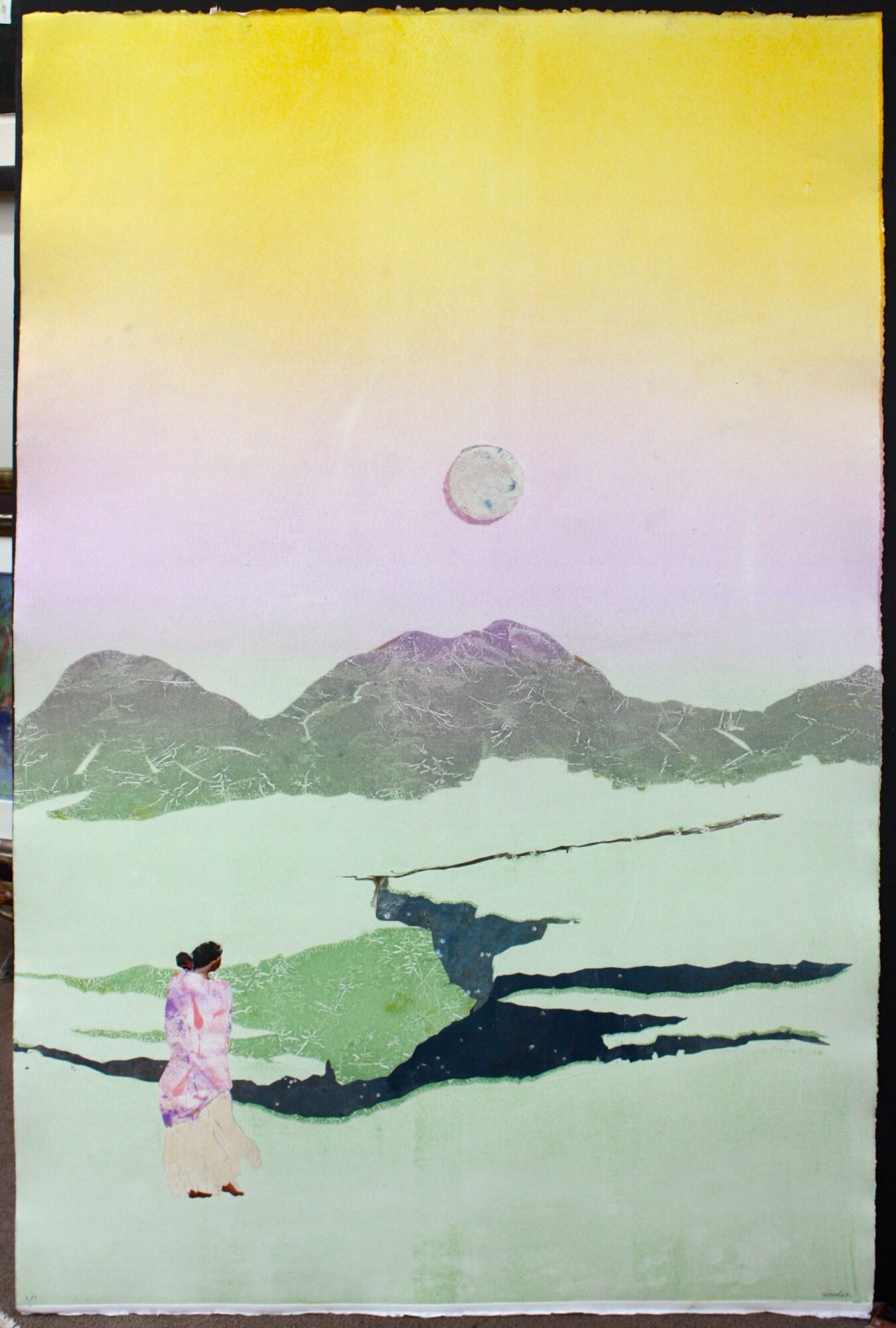 Full Moon Taos Valley