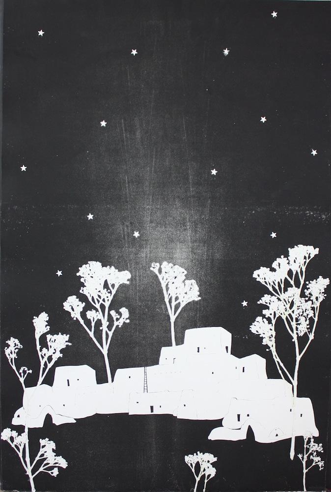 Taos Pueblo Starry Night
