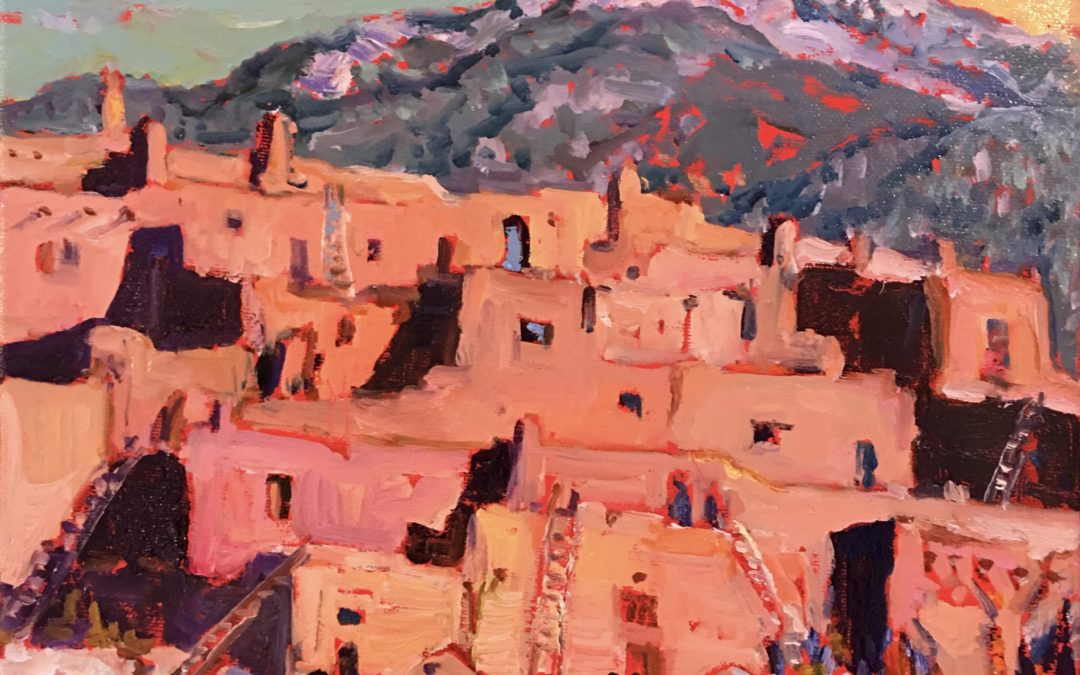 Taos Pueblo In Snow -Sold- Prints are available