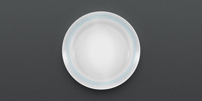 Plate in the dark