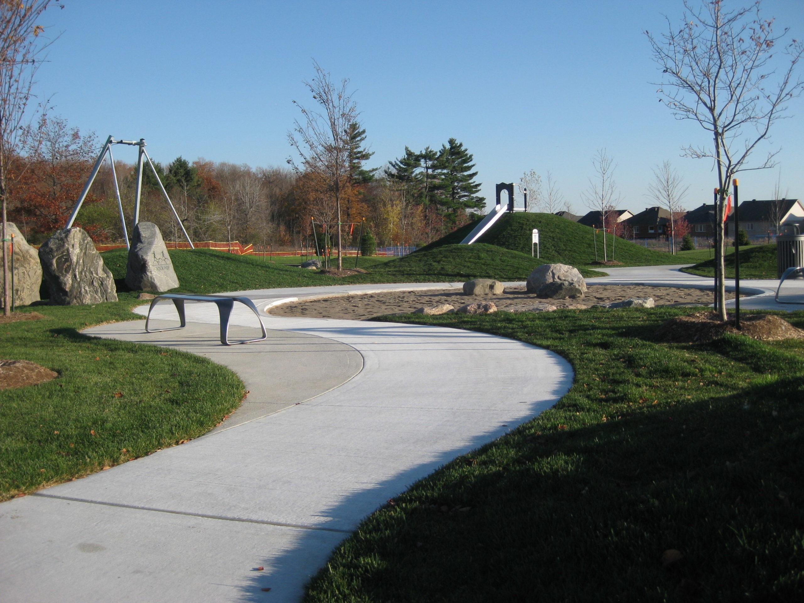 Pathway through park.