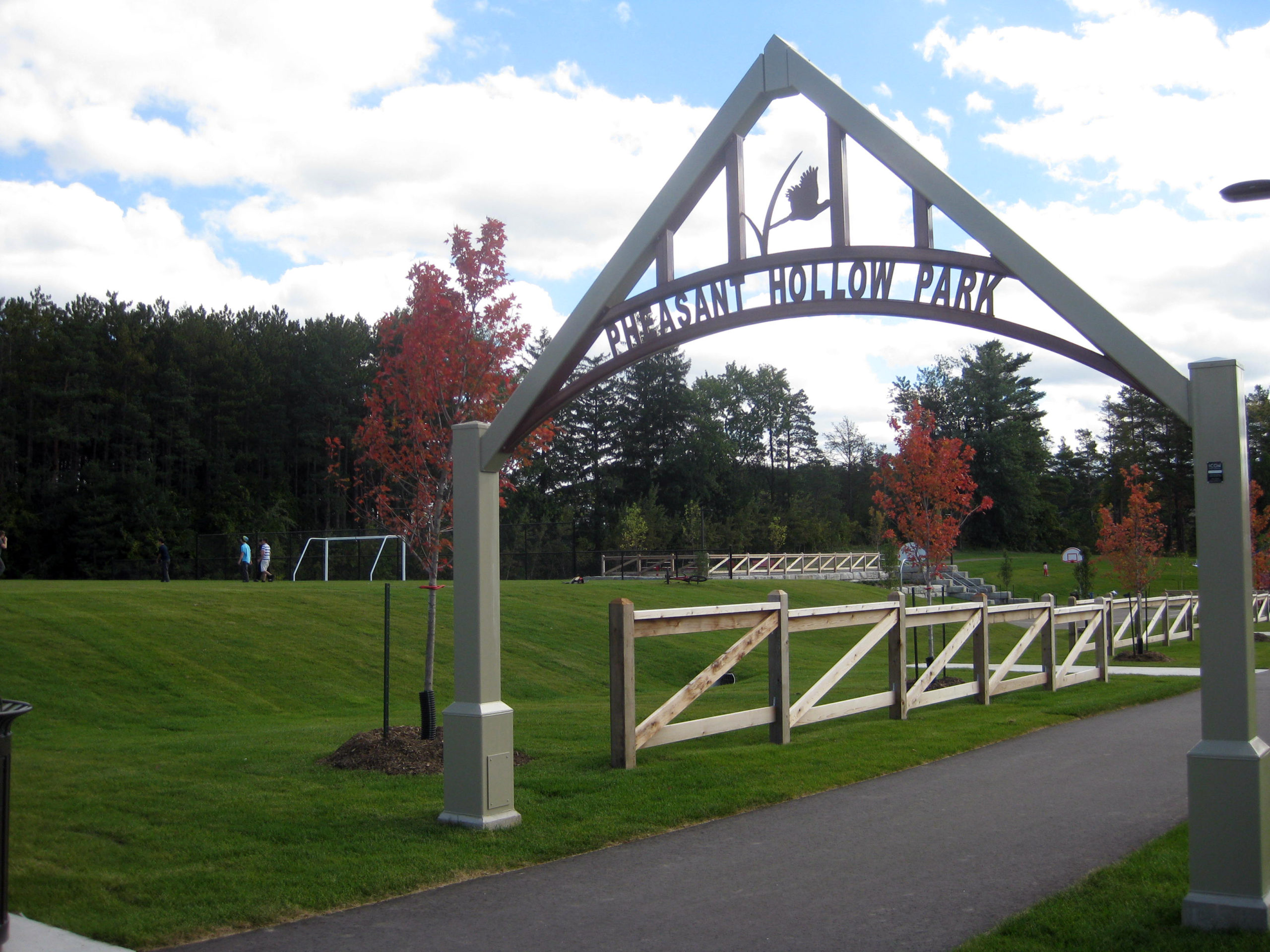 Entrance to the park.