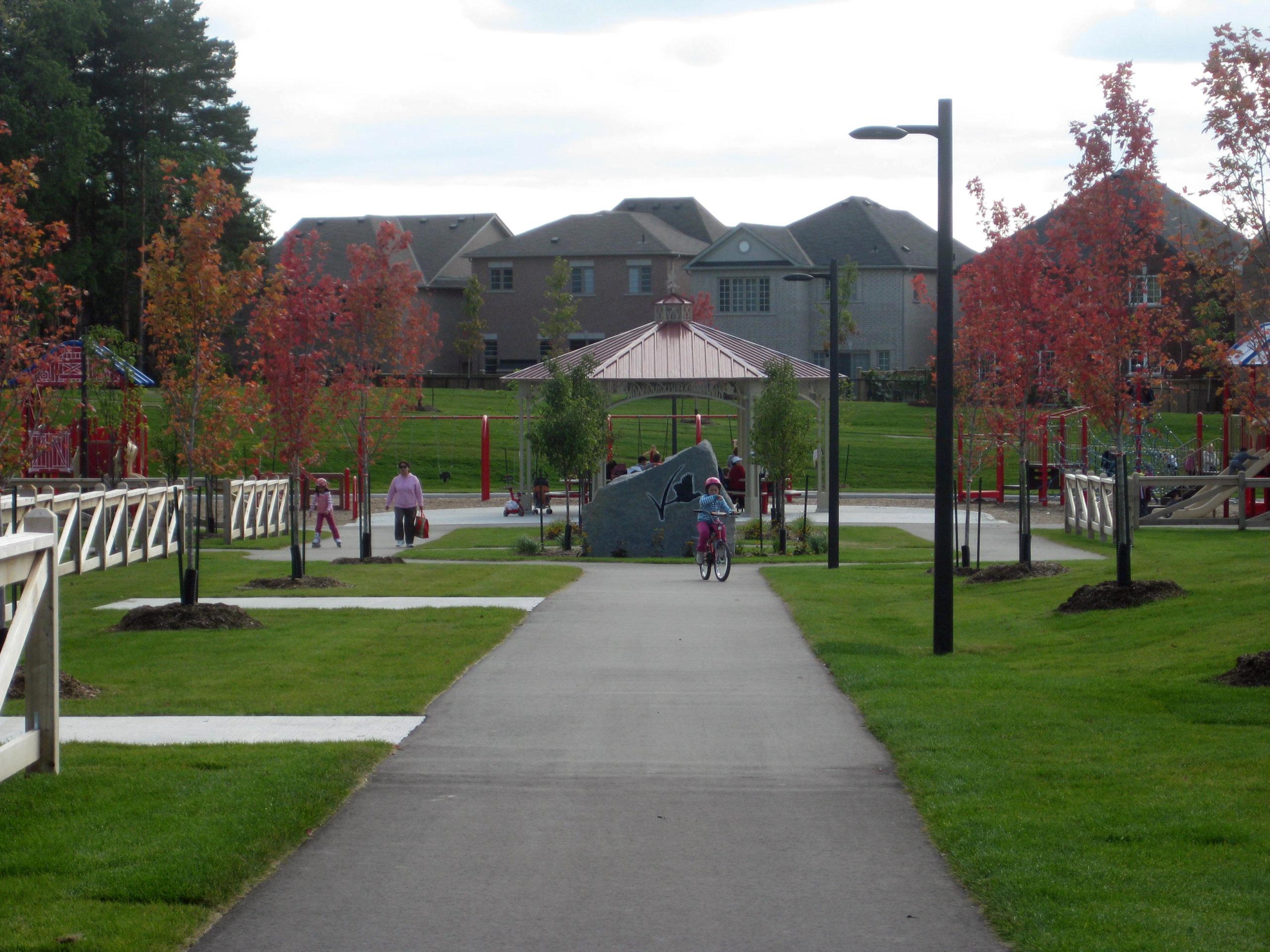 Pathway to the playground.