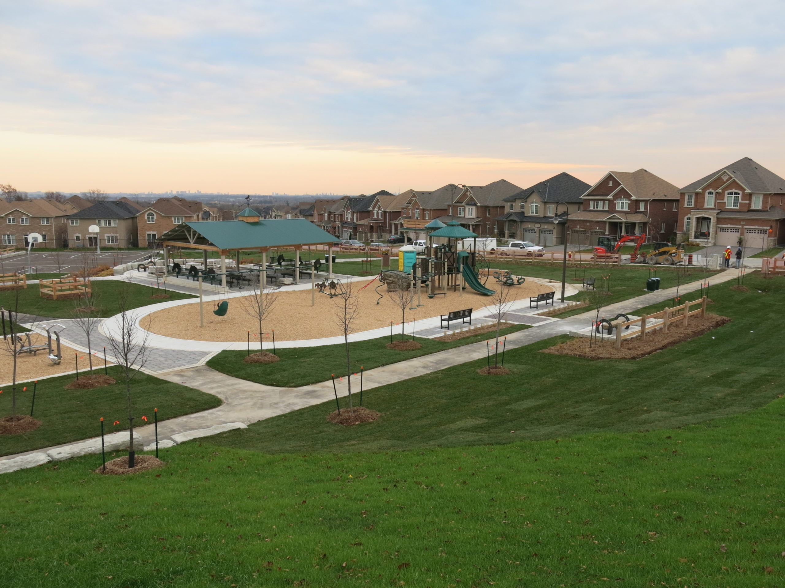 Overview of children's playground.