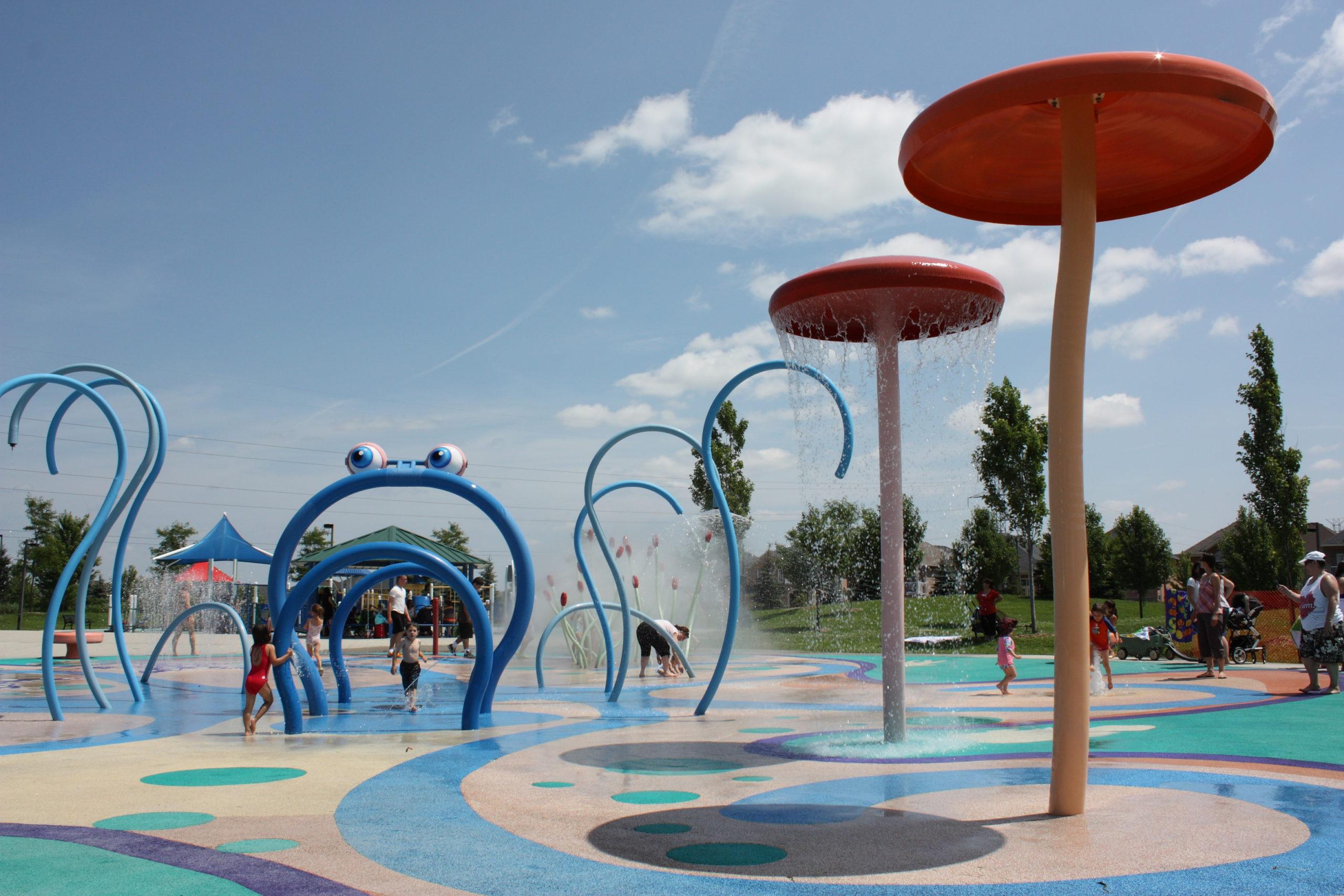 Children's water park.