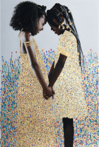 Joy 24k gold leaf, acrylic, on archival pigment print © Tawny Chatmon