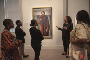 Field study trip with students from the AUC Art Collective Portrait of Marian Anderson National Portrait Gallery