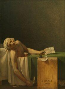 The Death of Marat. Jacques Louis David . 1793