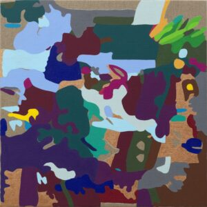 Vision Painting: No. 2, 2020 Acrylic on linen 20 x 20 in.