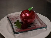 chocolate-mousse-in-blown-sugar-apple
