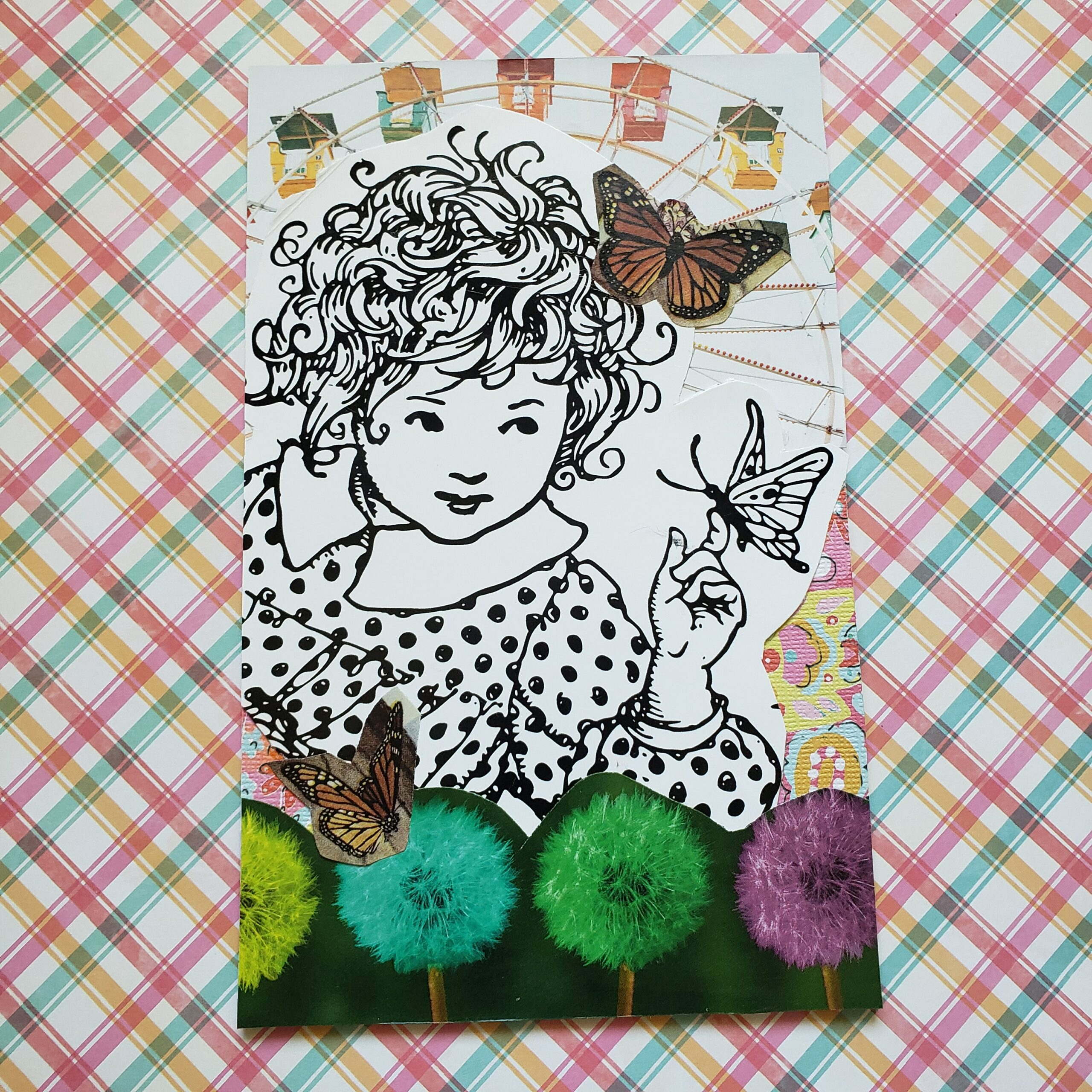 SoulCollage® Card :: Committee Suit :: I Am One Who Is Your Child Full of Wonder