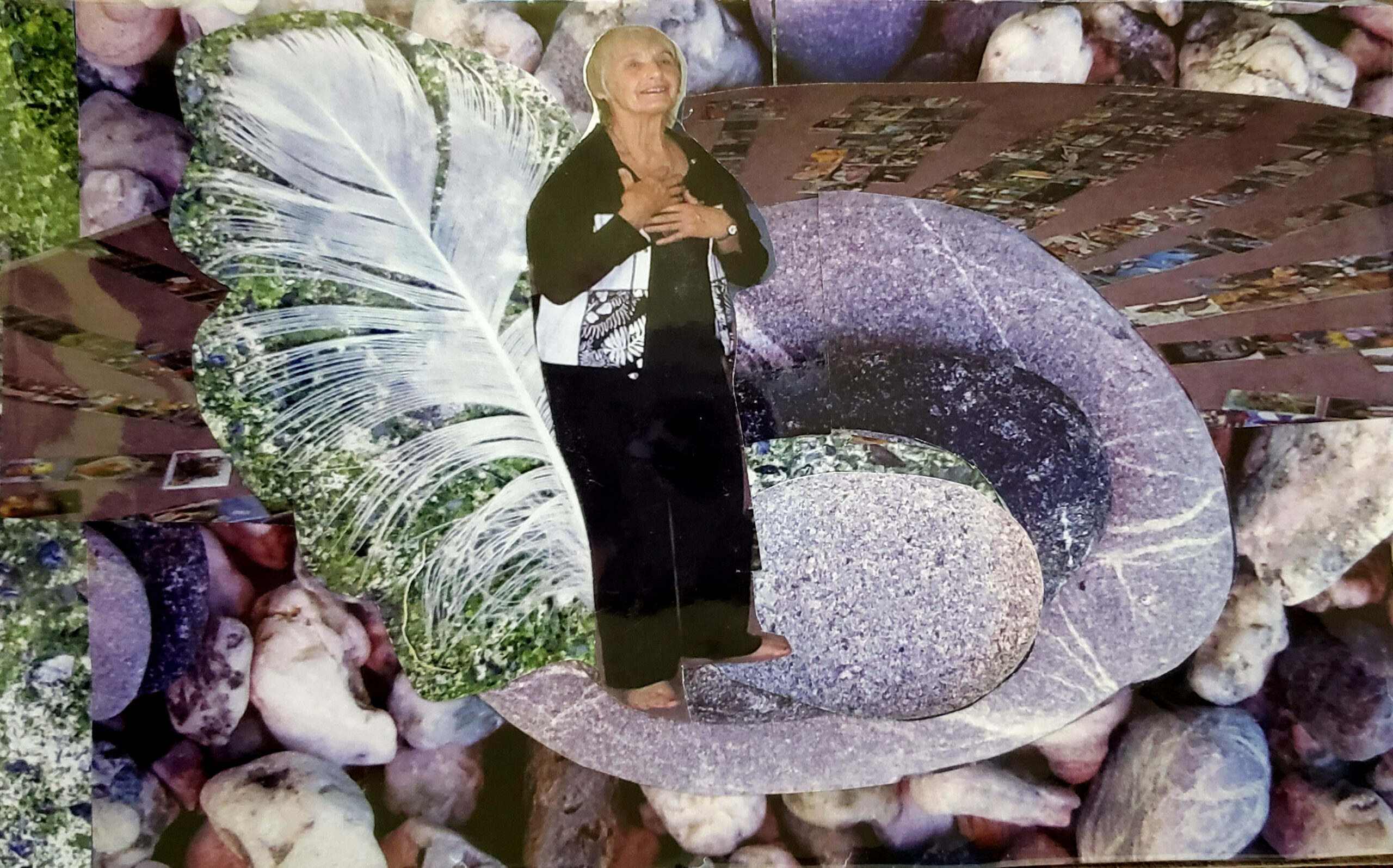 SoulCollage® Card :: Community Card :: I Am One Who Is Seena Frost