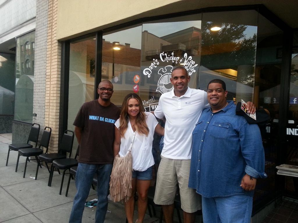 Grant Hill and Tamar visit Dame's Chicken and Waffles